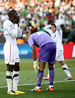 Jozy Altidore of USA stands dejected after missing a chance on goal. USA defeated Algeria 1-0 in stoppage time in the 2010 FIFA World Cup at Loftus Versfeld Stadium in Pretoria, Sourth Africa, on June 23th, 2010.
