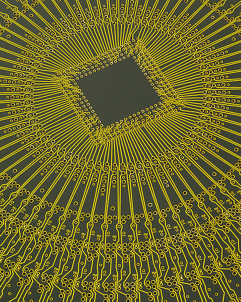 Radial printed circuit board for computerized equipment, USA .  John leads private photo tours in Boulder and throughout Colorado. Year-round Colorado photo tours.