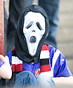 One Clyde fans wears a rather apt costume as they watch their team's horror show against East Stirlingshire  ...