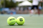 CHAPEL HILL, NC - MAY 13: Tennis balls. The University of North Carolina Tar Heels hosted the University of South Carolina Gamecocks on May 13, 2017, at The Cone-Kenfield Tennis Center in Chapel Hill, NC in an NCAA Division I Men's College Tennis Tournament second round match. UNC won 4-1.