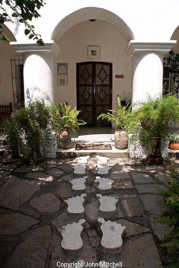Cement feet leading to Posada El Castillo, former home of Edward James in Xilitla, San Luis Potosi state, Mexico