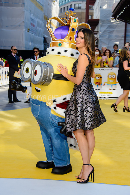 WWW.ACEPIXS.COM<br /> <br /> June 11 2015, London<br /> <br /> Sandra Bullock arriving at The World Premiere of 'Minions 3D' at the Odeon, Leicester Square on June 11 2015 in London<br /> <br /> By Line: Famous/ACE Pictures<br /> <br /> <br /> ACE Pictures, Inc.<br /> tel: 646 769 0430<br /> Email: info@acepixs.com<br /> www.acepixs.com