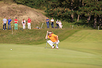 Miguel Angel Jimenez (ESP) on the 9th during Round 2 of the KLM Open at Kennemer Golf &amp; Country Club on Friday 12th September 2014.<br /> Picture:  Thos Caffrey / www.golffile.ie