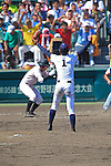 Kona Takahashi (Maebashi Ikuei),<br /> AUGUST 22, 2013 - Baseball :<br /> Pitcher Kona Takahashi of Maebashi Ikuei celebrate their victory as Reito Nasu (L) of Nobeoka Gakuen looks dejected at the end of the 95th National High School Baseball Championship Tournament final game between Maebashi Ikuei 4-3 Nobeoka Gakuen at Koshien Stadium in Hyogo, Japan. (Photo by Katsuro Okazawa/AFLO)