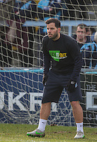 Sam Wood of Wycombe Wanderers in his Kick it Out shirt during the Sky Bet League 2 match between Wycombe Wanderers and Stevenage at Adams Park, High Wycombe, England on 12 March 2016. Photo by Andy Rowland/PRiME Media Images.