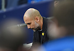 Manchester City Manager Josep Guardiola before the start of the premier league match at the Wembley Stadium, London. Picture date 14th April 2018. Picture credit should read: Robin Parker/Sportimage