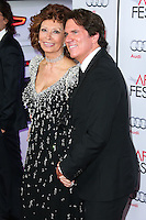 HOLLYWOOD, LOS ANGELES, CA, USA - NOVEMBER 12: Sophia Loren, Rob Marshall arrive at the AFI FEST 2014 - Special Tribute To Sophia Loren held at the Dolby Theatre on November 12, 2014 in Hollywood, Los Angeles, California, United States. (Photo by Xavier Collin/Celebrity Monitor)