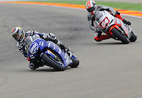 Yamaha Factory Jorge Lorenzo get the pole position in the Qualifiyng practice 1 at Aragon Moto Gp Grand Prix 2012