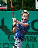 August 4, 2014, Netherlands, Dordrecht, TC Dash 35, Tennis, National Junior Championships, NJK,  Julian van Heur (NED)<br /> Photo: Tennisimages/Henk Koster