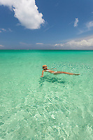 Floating in the crystal clear water of the Turks and Caicos Islands.