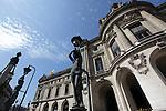 Statue-lampadaires outside of Opera Garnier. Palais Garnier. City of Paris. Paris