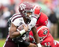 ATHENS, GA - NOVEMBER 23: Kam Brown #18 of the Texas A