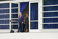 United States President Donald Trump and First lady Melania Trump visit Saint John Paul II National Shrine in Washington, DC on Tuesday, June 2, 2020.<br /> Credit: Chris Kleponis / Pool via CNP/AdMedia