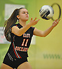 Joanna Acampora #11 of East Rockaway serves during the Nassau County varsity girls volleyball Class C championship against Carle Place at SUNY Old Westbury on Tuesday, Nov. 8, 2016. East Rockaway won 3-0.