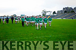 South Kerry and Legion players at the end of the Kerry County Senior Football Final at Fitzgerald Stadium on Sunday.