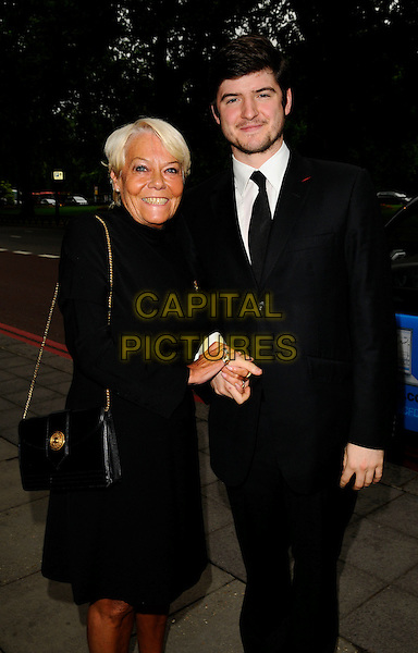 WENDY RICHARD & JAMES ALEXANDROU.Attending The Heritage Foundation Annual Summer Ball & Awards Evening, Grosvenor House, London, England, 21st June 2008..half 3/4 length black dress suit tie bag Eastenders co-stars.CAP/CAN.©Can Nguyen/Capital Pictures
