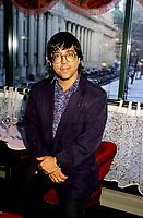 March 1993 File photo, Montreal (QC) CANADA<br /> <br /> GillesValiquette, lancement du CD PIECES<br /> Photo : (c)Pierre Roussel