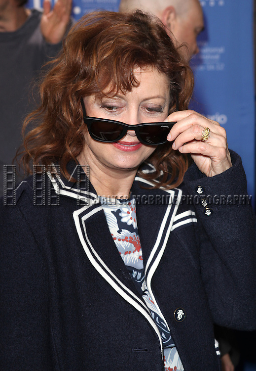 Susan Sarandon attending the The 2012 Toronto International Film Festival Photo Call for 'Cloud Atlas' at the TIFF Bell Lightbox in Toronto on 9/9/2012