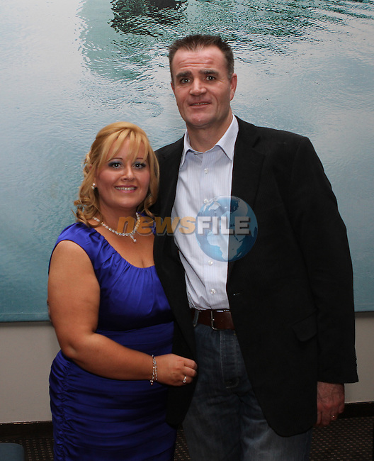 Olivia McGinn (40th) and her brother Ronan Quinn (30th) celebrate their birthdays in the d Hotel.  Oivia Pictured here wth her husband John...Photo NEWSFILE/Jenny Matthews..(Photo credit should read Jenny Matthews/NEWSFILE)