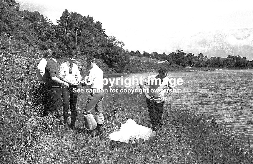 The body of missing Independent Nationalist councillor, Patrick Joseph Kelly, from Trillick, Co Tyrone, was discovered in this lough three weeks after he went missing. Ref: 1974080303001..Copyright Image from Victor Patterson, 54 Dorchester Park, Belfast, UK, BT9 6RJ..Tel: +44 28 9066 1296.Mob: +44 7802 353836.Voicemail +44 20 8816 7153.Skype: victorpattersonbelfast.Email: victorpatterson@mac.com.Email: victorpatterson@ireland.com (back-up)..IMPORTANT: If you wish to use this image or any other of my images please go to www.victorpatterson.com and click on the Terms & Conditions. Then contact me by email or phone with the reference number(s) of the image(s) concerned.