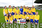 Lissivigeen National School Team Front row, Rhiannon Butler, Ellen Hickey, Lauren O'Connor, Kate Nash, Orla Cronin, Ashling Coughlan, Kate Lynch, Alisha O'Sullivan.  Back row, Rachel Healy, Louise Healy, Hazel Riordan, Mairead Bennett, Linda Taylor, Marie Courtney, Elizabeth Stack, Maeve Fitzmartin, Grace Courtney at the Allianz Cumann na mBunscol, Girls Finals at Austin Stacks Park on Tuesday