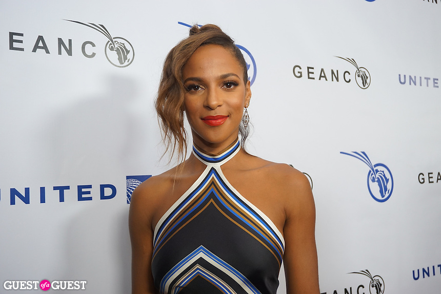 Megalyn Echikunwoke attends The GEANCO Foundation's annual Hollywood fundraiser on Friday, Oct. 21, at Spectra in the Pacific Design Center.
