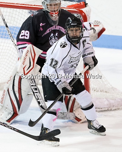 Jessica Vella (PC - 12) - The Northeastern University Huskies defeated the visiting Providence College Friars 8-7 on Sunday, January 20, 2013, at Matthews Arena in Boston, Massachusetts.