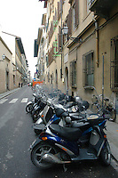 Scooter on the street in Florence, Italy March 1, 2006. (Photo by Alan Greth)