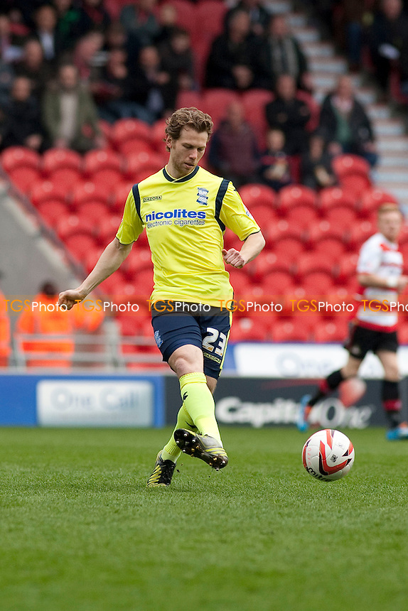 Jonathan Spector of Birmingham clears<br />  - Doncaster Rovers vs Birmingham City - Sky Bet Championship Football at the Keepmoat Stadium, Doncaster - 05/04/14 - MANDATORY CREDIT: Mark Hodsman/TGSPHOTO - Self billing applies where appropriate - 0845 094 6026 - contact@tgsphoto.co.uk - NO UNPAID USE