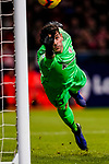 Goalkeeper Iago Herrerin of Athletic de Bilbao saves the ball during the La Liga 2018-19 match between Atletico de Madrid and Athletic de Bilbao at Wanda Metropolitano, on November 10 2018 in Madrid, Spain. Photo by Diego Gouto / Power Sport Images