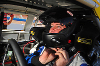 Apr 17, 2009; Avondale, AZ, USA; NASCAR Nationwide Series driver Tony Raines during qualifying prior to the Bashas Supermarkets 200 at Phoenix International Raceway. Mandatory Credit: Mark J. Rebilas-