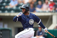 Columbus Clippers designated hitter Yandy Diaz (27) during a game against the Lehigh Valley IronPigs on May 12, 2016 at Huntington Park in Columbus, Ohio.  Lehigh Valley defeated Columbus 2-1.  (Mike Janes/Four Seam Images)