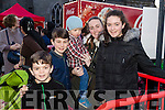 Kieran Carvill, Oisin Carvill and Jack Carvill with Laura and McLoughlin, pictured at the Coca Cola Truck in Listowel on Sunday last.