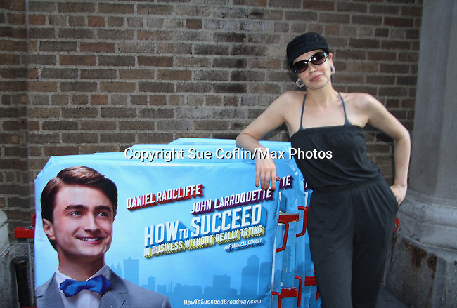 """Guiding Light Tammy Blanchard """"Drew"""" stars in """"How To Succeed in Business without Really Trying"""" and is nominated for a Tony for Best Featured Actress in a Musical this year and poses on May 28, 2011 at the Al Hirschfeld Theatre, New York City, New York"""