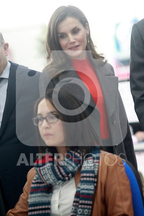 Queen Letizia of Spain during the visit to the facilities of the Spanish sportswear company JOMA Sports. January 19, 2018. (ALTERPHOTOS/Acero)