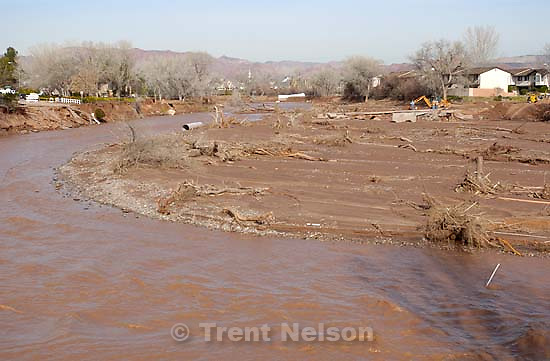 Flood damaged areas.<br />
