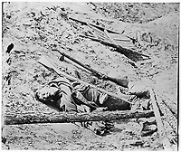 Dead Confederate Soldier at Fort Mahone, Petersburg<br /> <br /> Published 1864