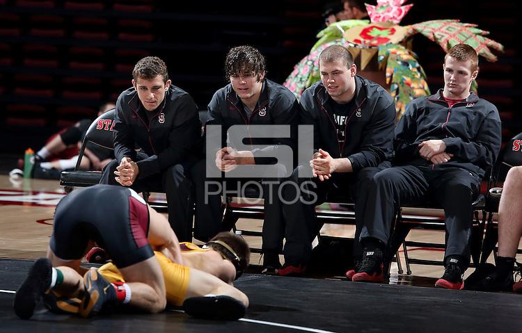 Stanford, CA; Sunday January 25, 2015; Wrestling, Stanford vs Arizona State.