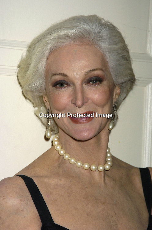 "Carmen Dell'Orefice..at The 60th  Boys' Towns of Italy  ""Ball of the Year""  on..April 8, 2005 at The Waldorf Astoria Hotel. ..Photo by Robin Platzer, Twin Images"
