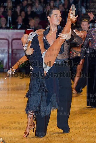 Kosuke Matsumoto and Nozomi Katou of Japan perform their dance during the Professional Latin competition of the International Championships held in Royal Albert Hall, London, United Kingdom. Thursday, 21. October 2010. ATTILA VOLGYI