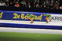 SCHAATSEN: HEERENVEEN: 25-10-2013, IJsstadion Thialf, NK afstanden, 5000m, Bob de Jong, Jorrit Bergsma, ©foto Martin de Jong