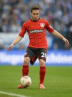FUSSBALL   1. BUNDESLIGA   SAISON 2012/2013    29. SPIELTAG FC Schalke 04 - Bayer 04 Leverkusen                        13.04.2013 Daniel Carvajal (Bayer 04 Leverkusen) Einzelaktion am Ball