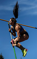 Eliza McCartney, Pole Vault. NZ Athletic Championships, Porritt Stadium, Hamilton, Waikato, New Zealand,  Sunday 19 March 2017. Photo: Simon Watts/www.bwmedia.co.nz