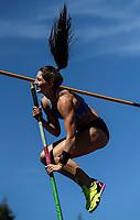 Eliza McCartney, Pole Vault. NZ Athletic Championships, Porritt Stadium, Hamilton, Waikato, New Zealand,  Sunday 19 March 2017. Photo: Simon Watts/www.bwmedia.co.nz