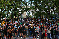 NEW YORK, NEW YORK - June 19: Protesters organize to march at the Grand Army Plaza in Brooklyn on June 19, 2020. People gathered in New York at different locations to celebrate June 15, which remembers the day in 1865. When Union soldiers freed slaves, all movements are celebrated in the context of protests against the murder of George Floyd and other African Americans by the police in the USA. (Photo by Pablo Monsalve / VIEWpress via Getty Images)