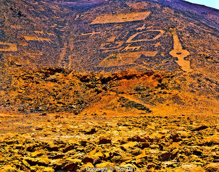 Geoglyphs, Rock Sculptures of Prehistoric Origin, Atacama Desert, Chile, South America