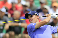 Matt Fitzpatrick (ENG) tees off the 1st tee to start his match during Saturday's Round 3 of the 117th U.S. Open Championship 2017 held at Erin Hills, Erin, Wisconsin, USA. 17th June 2017.<br /> Picture: Eoin Clarke | Golffile<br /> <br /> <br /> All photos usage must carry mandatory copyright credit (&copy; Golffile | Eoin Clarke)