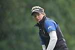 Luke Donald on the 1st green in the rain in his  final round of the BMW PGA Championship on the 27th of May 2007 at the Wentworth Golf Club, Surrey, England. (Photo by Manus O'Reilly/NEWSFILE)