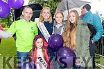 Kevin Roche, Ciara Marie O'Connor Roche, Elysha Brennan (Rose of Tralee) with Carrie O'Connor and Caoimhe Roche, pictured at the Balloon release in Tralee Town Park on Sunday afternoon last.