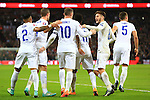 Wayne Rooney of England celebrates scoring - England vs. Slovenia - UEFA Euro 2016 Qualifying - Wembley Stadium - London - 15/11/2014 Pic Philip Oldham/Sportimage